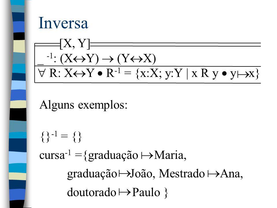 Inversa [X, Y] _ -1: (XY)  (YX)